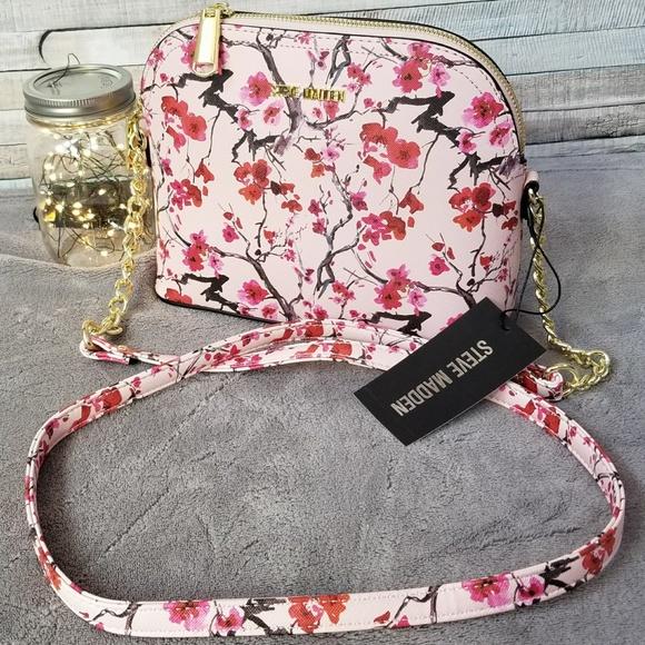 Steve Madden Handbags | Steve Madden Pink Floral Crossbody NWT | Poshmark